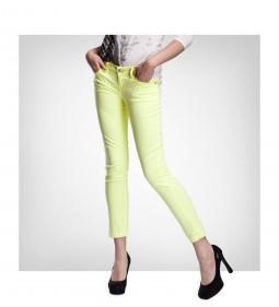 "LTB Spodnie 4238 Aspen Ankle ""Fluo Yellow"""