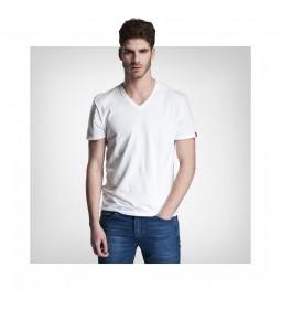 "Levi's® ""Slim 2 Pack V Neck Tee"" White & White"