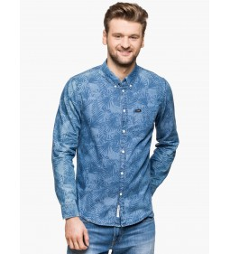 "Lee "" Button Down"" Delft Blue"