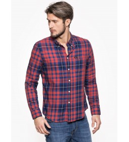"Lee ""Button Down"" Vibrant Red"