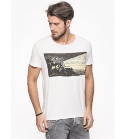 "Wrangler ""S/S/ EMO Graphic Tee"" Antigue White"