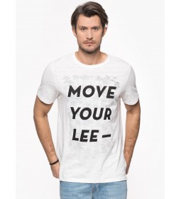 "Lee "" Move Your Tee"" White Canvas"