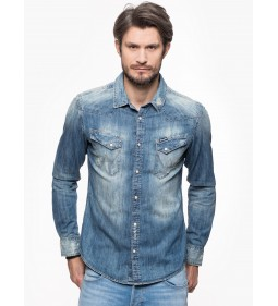 "Wrangler ""L/S Original Western"" Light Indigo"