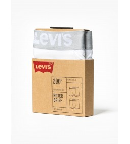 "Levi's ""Boxer Brief 2 Pack "" White"