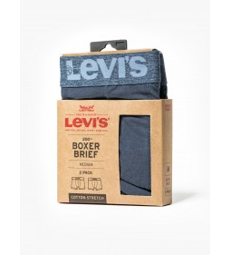 """Levi's """"Boxer Brief 2 Pack"""" Light Denim"""