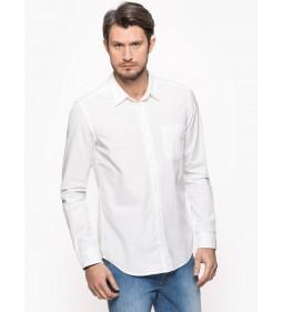 """Wrangler """"L/S 1 Pkt Shirt"""" White"""