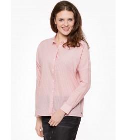 "Wrangler ""L/S Fluid Shirt"" Silver Pink"