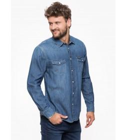 "Wrangler ""Western Denim Shirt Mid"" Indigo"