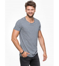 "Lee""Mini Stripe Tee"" Deep Indigo"
