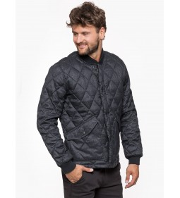 "Lee ""Quilted Bomber"" Dark Grey Mele"