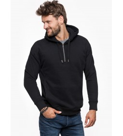 "Lee ""Half Zip Hoody"" Black"