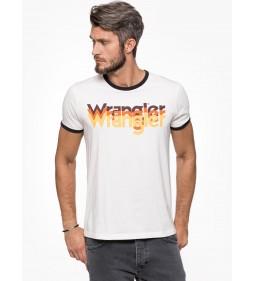"""Wrangler """"Logo Tee"""" Off White"""