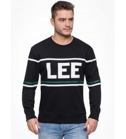 """Lee """"90'S Logo Crew"""" Black"""