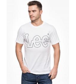 """Lee """"Tee Logo"""" White"""
