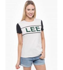 "Lee ""Colorblock Logo"" White"