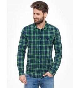 "Wrangler ""1Pkt Flap Shirt"" Amazon Green"