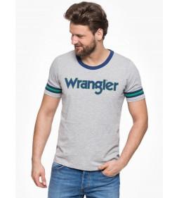"Wrangler ""Insert Logo T"" Mid Grey Mel"