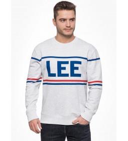 "Lee ""90'S Logo Crew Sharp"" Grey Mele"