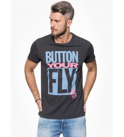 """Levi's """"Surplus Graphic Tee"""" Button Your Fly Black"""