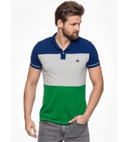"""Wrangler """"3 Color Polo"""" Amazon Green"""