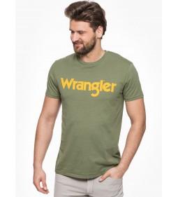 """Wrangler """"Logo Tee"""" Olivine"""