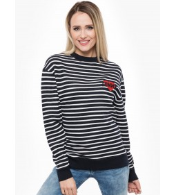 "Tommy Jeans ""Stripe Badge Sweat Shirt"" Black"