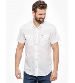 """Wrangler """"Western Shirt"""" White"""