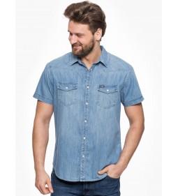 """Wrangler """"Western Shirt"""" Light Indigo"""