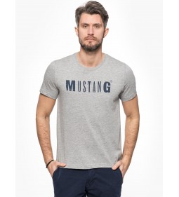 "Mustang  ""Logo Tee"" Grey Plus"