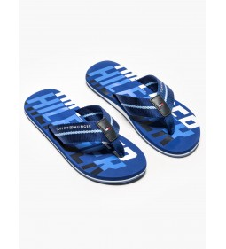 "Tommy Hilfiger ""Bold Hilfiger Beach Sandal"" Monaco Blue"