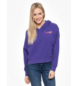 "Wrangler ""Crop Hoodie Tropical"" Purple"