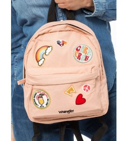 "Wrangler ""Badge Backpack"" Peach Parfait"