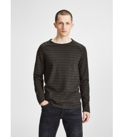 "Jack & Jones ""Jorunion Knit Crew"" Sea Turtle Detail"