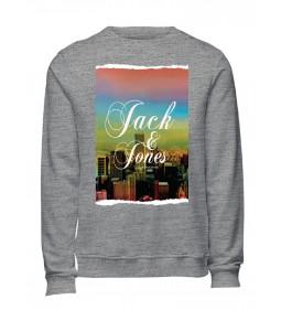 "Jack & Jones ""Jorart City Sweat"" Light Grey Melange"