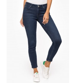 "Lee ""Scarlett"" Cropped Polished Indigo"