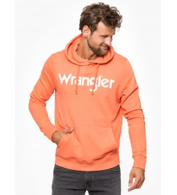 "Wrangler ""Logo Hoodie"" Glow Orange"