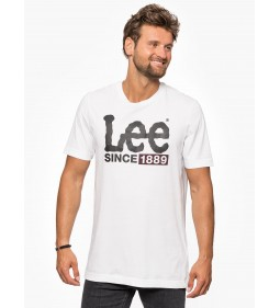"Lee ""1889 Logo T"" White"