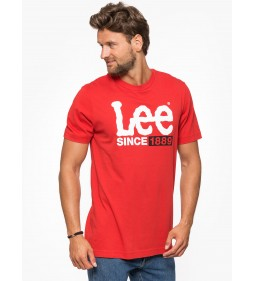 "Lee ""1889 Logo T"" Bright Red"