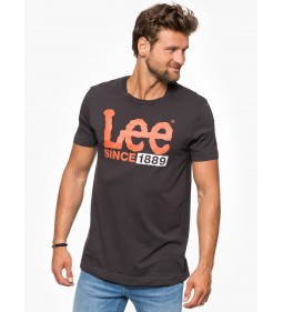 "Lee ""1889 Logo T"" Faded Black"