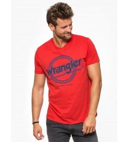 "Wrangler ""Americana Tee"" Salsa Red"