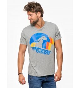 """Wrangler """"Horse Logo Tee"""" Grey Marl"""