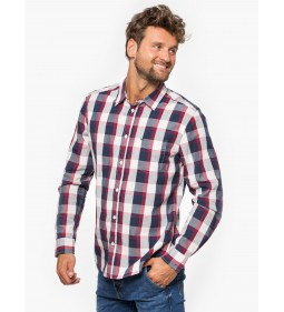 "Wrangler ""LS 1PKT Shirt"" Red Plus"