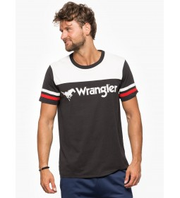 "Wrangler ""Rugby Tee"" Faded Black"