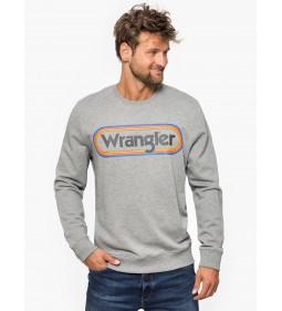 "Wrangler ""Multi Logo Sweat"" Grey Marl"