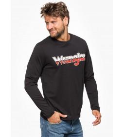 """Wrangler """"LS Logo Tee"""" Black"""