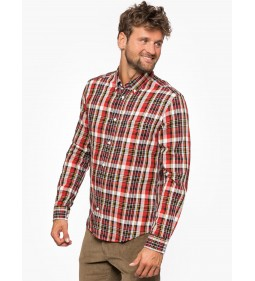 "Wrangler ""LS 1PKT Button Down"" Salsa Red"