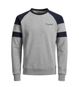 "Jack & Jones ""Jorfred Sweat"" Light Grey Melange"