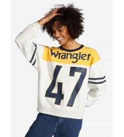 "Wrangler ""B&Y Sweat"" Light Grey Mel"