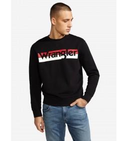"Wrangler ""Logo Crew"" Black"
