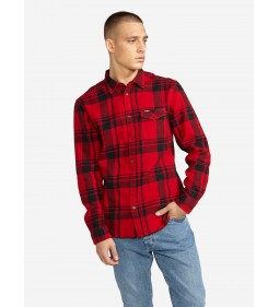 "Wrangler ""Ls 1Pkt Flap Shirt"" Salsa Red"